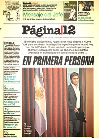 PORTADA PAGINA 12 7 JULIO 2014