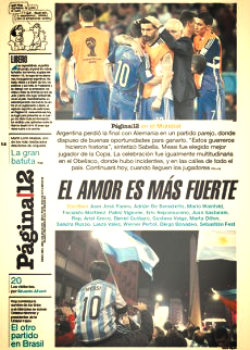 PORTADA PAGINA 12 14 JULIO 2014