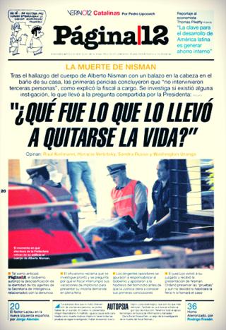 PORTADA PÁGINA 12 20 ENERO 2015